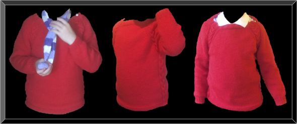 gallery/finished red cotton jumper